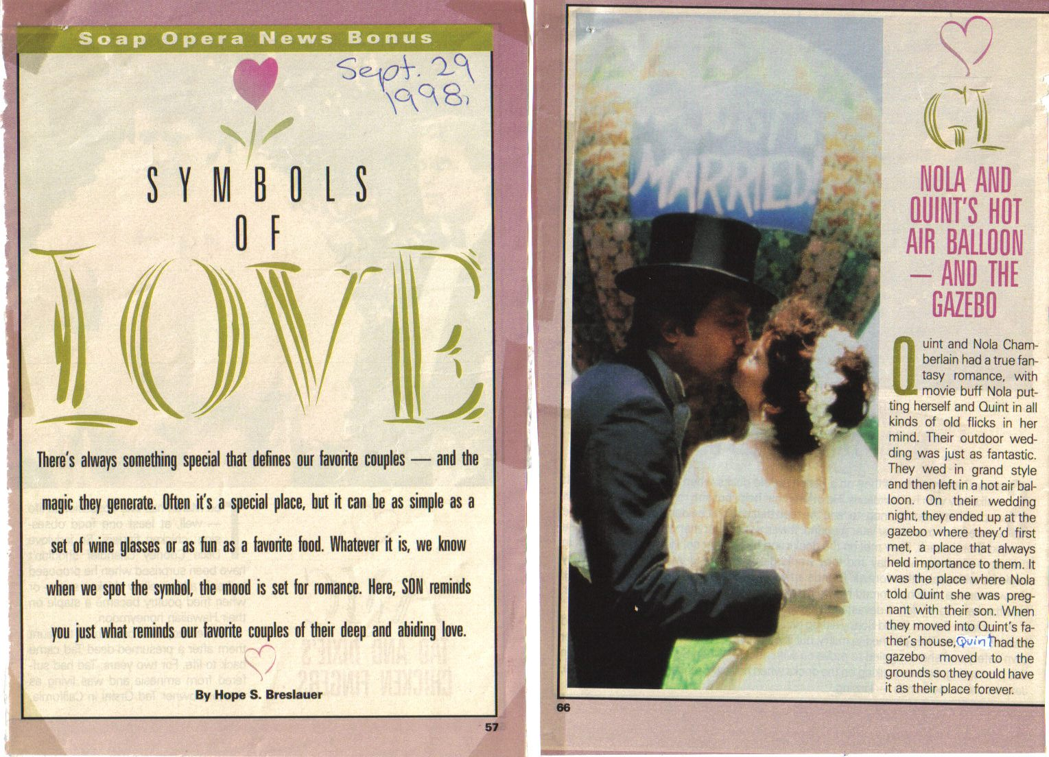 Michael Tylo Online Article Archive Symbols Of Love